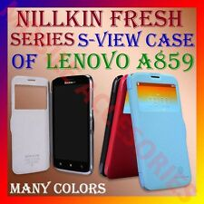 ACM-NILLKIN FRESH SERIES S-VIEW WINDOW LEATHER FLIP CASE of LENOVO A859 MOBILE