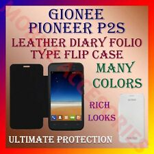 ACM-LEATHER DIARY FOLIO FLIP FLAP CASE for GIONEE PIONEER P2S FRONT & BACK COVER