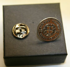 OLD SILVER THREE PENCE TIE PIN CHOICE OF DATE 1920-1944 + BOXED