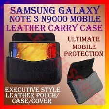 ACM-HORIZONTAL LEATHER CARRY CASE for SAMSUNG NOTE 3 N9000 MOBILE POUCH COVER