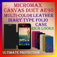 ACM-LEATHER DIARY FOLIO FLIP FLAP CASE for MICROMAX CANVAS DUET AE90 FULL COVER