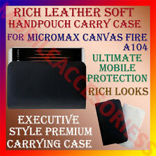 ACM-RICH LEATHER SOFT CARRY CASE for MICROMAX CANVAS FIRE A104 HANDPOUCH COVER
