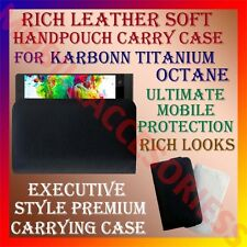 ACM-RICH LEATHER SOFT CARRY CASE for KARBONN TITANIUM OCTANE HANDPOUCH COVER NEW
