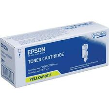 GENUINE EPSON C13S050611 / S050611 YELLOW HIGH CAPACITY LASER TONER CARTRIDGE
