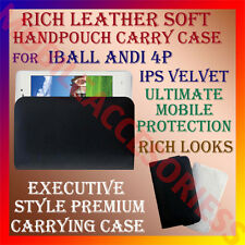 ACM-RICH LEATHER SOFT CARRY CASE for IBALL ANDI 4P IPS VELVET MOBILE COVER POUCH