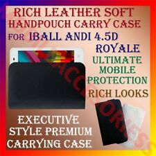 ACM-RICH LEATHER SOFT CARRY CASE for IBALL ANDI 4.5D ROYALE MOBILE HANDPOUCH NEW