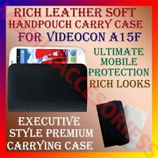 ACM-RICH LEATHER SOFT CARRY CASE for VIDEOCON A15F MOBILE HANDPOUCH COVER POUCH