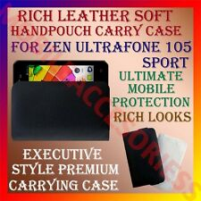 ACM-RICH LEATHER SOFT CARRY CASE for ZEN ULTRAFONE 105 SPORT HANDPOUCH COVER NEW