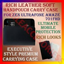 ACM-RICH LEATHER SOFT CARRY CASE of ZEN ULTRAFONE AMAZE 701FHD HANDPOUCH COVER