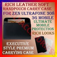 ACM-RICH LEATHER SOFT CARRY CASE for ZEN ULTRAFONE 308 3G HANDPOUCH COVER POUCH