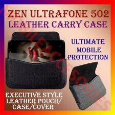 ACM-HORIZONTAL LEATHER CARRY CASE for ZEN ULTRAFONE 502 RICH POUCH COVER HOLDER