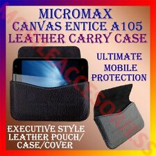 ACM-HORIZONTAL LEATHER CARRY CASE for MICROMAX CANVAS ENTICE A105 POUCH COVER