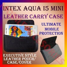 ACM-HORIZONTAL LEATHER CARRY CASE for INTEX AQUA I5 MINI MOBILE RICH POUCH COVER