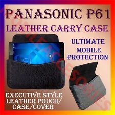 ACM-HORIZONTAL LEATHER CARRY CASE for PANASONIC P61 MOBILE POUCH COVER HOLDER