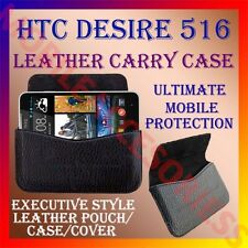 ACM-HORIZONTAL LEATHER CARRY CASE for HTC DESIRE 516 MOBILE POUCH COVER HOLDER