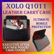 ACM-HORIZONTAL LEATHER CARRY CASE for XOLO Q1011 MOBILE RICH POUCH COVER HOLDER
