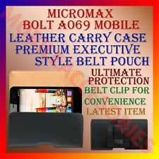 ACM-BELT CASE for MICROMAX BOLT A069 MOBILE LEATHER CARRY POUCH COVER CLIP NEW