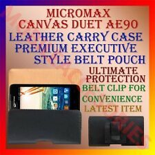 ACM-BELT CASE for MICROMAX CANVAS DUET AE90 LEATHER CARRY POUCH PREMIUM COVER