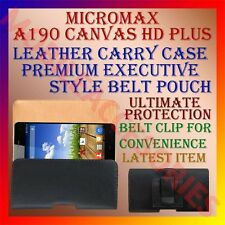 ACM-BELT CASE of MICROMAX A190 CANVAS HD PLUS LEATHER CARRY POUCH COVER CLIP NEW