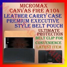 ACM-BELT CASE for MICROMAX CANVAS FIRE A104 LEATHER CARRY POUCH PREMIUM COVER