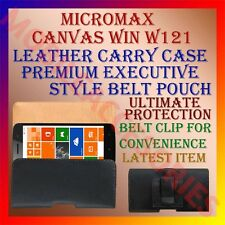 ACM-BELT CASE for MICROMAX CANVAS WIN W121 LEATHER CARRY POUCH COVER CLIP HOLDER