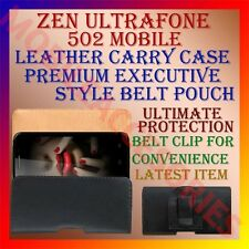 ACM-BELT CASE for ZEN ULTRAFONE 502 MOBILE LEATHER CARRY POUCH COVER CLIP HOLDER