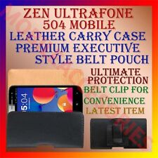 ACM-BELT CASE for ZEN ULTRAFONE 504 MOBILE LEATHER CARRY POUCH COVER CLIP HOLDER