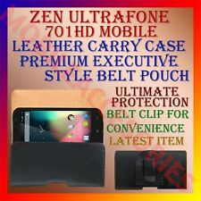 ACM-BELT CASE for ZEN ULTRAFONE 701HD MOBILE LEATHER CARRY POUCH COVER CLIP NEW