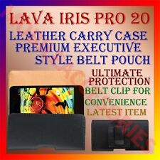 ACM-BELT CASE for LAVA IRIS PRO 20 MOBILE LEATHER CARRY POUCH COVER CLIPHOLDER