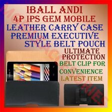 ACM-BELT CASE for IBALL ANDI 4P IPS GEM MOBILE LEATHER CARRY POUCH COVER CLIP