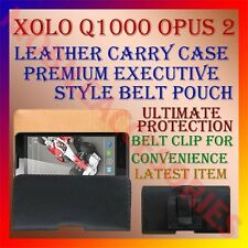 ACM-BELT CASE for XOLO Q1000 OPUS 2 MOBILE LEATHER CARRY POUCH COVER CLIP HOLDER
