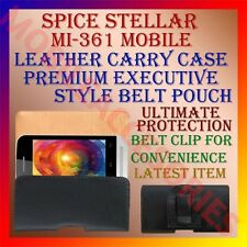 ACM-BELT CASE for SPICE STELLAR MI-361 MOBILE LEATHER CARRY POUCH COVER HOLDER