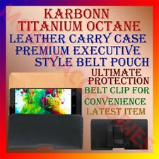ACM-BELT CASE for KARBONN TITANIUM OCTANE MOBILE LEATHER CARRY POUCH COVER CLIP