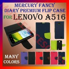 ACM-MERCURY PREMIUM DIARY FLIP FLAP CASE for LENOVO A516 MOBILE WALLET COVER NEW