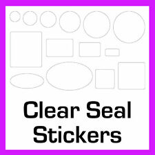 Packing Box Permanent Transparent Gloss Clear Seal Stickers Sticky Labels
