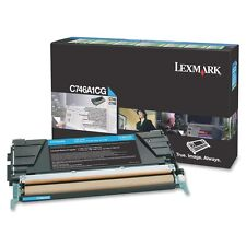 GENUINE LEXMARK C746A1CG CYAN RETURNS PROGRAM LASER TONER CARTRIDGE