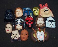 VINTAGE STAR WARS MASKS HALLOWEEN DARTH VADER MAUL C-3PO,  PADME CHILD SIZED