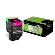 GENUINE LEXMARK 80C20M0 802M MAGENTA RETURN PROGRAM LASER TONER CARTRIDGE