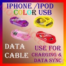 "ACM-COLORFUL USB CABLE for IPHONE™®IPOD 3G/3GS/4G/4S ""For Charging & Data Sync"""