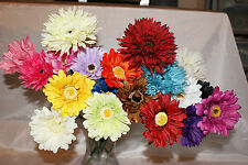 Gerbera Daisy Stem Silk Various Colours Pink, Red, Yellow, Orange, Blue, Ivory
