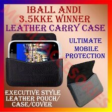 ACM-HORIZONTAL LEATHER CARRY CASE for IBALL ANDI 3.5KKE WINNER MOBILE COVER CASE