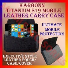 ACM-HORIZONTAL LEATHER CARRY CASE for KARBONN TITANIUM S19 MOBILE COVER HOLDER