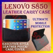 ACM-HORIZONTAL LEATHER CARRY CASE for LENOVO S850 MOBILE RICH POUCH COVER HOLDER