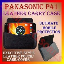 ACM-HORIZONTAL LEATHER CARRY CASE for PANASONIC P41 MOBILE POUCH RICH COVER NEW