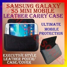 ACM-HORIZONTAL LEATHER CARRY CASE for SAMSUNG GALAXY S5 MINI MOBILE POUCH COVER