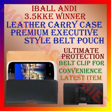 ACM-BELT CASE for IBALL ANDI 3.5KKE WINNER MOBILE LEATHER POUCH COVER CLIP NEW