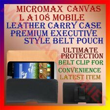 ACM-BELT CASE for MICROMAX CANVAS L A108 MOBILE LEATHER POUCH COVER CLIP HOLDER