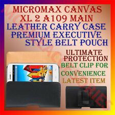 ACM-BELT CASE for MICROMAX CANVAS XL 2 A109 MOBILE LEATHER POUCH COVER CLIP NEW
