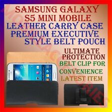ACM-BELT CASE for SAMSUNG GALAXY S5 MINI MOBILE LEATHER POUCH COVER CLIP HOLDER