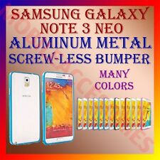 ACM-ALUMINUM BUMPER METAL CASE COVER SCREWLESS FRAME for SAMSUNG  NOTE 3 NEO NEW
